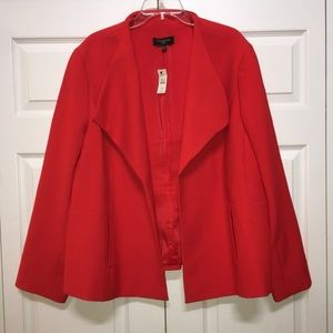 🆕NWT-TALBOTS 22W RED JACKET YOU WILL LOVE-NEW